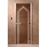 Дверь для саун DoorWood Арка бронза АП лиственница 190*70