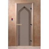 Дверь для саун DoorWood Арка черный жемчуг матовое 190*70