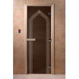 Дверь для саун DoorWood Арка черный жемчуг 190*70