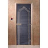 Дверь для саун DoorWood Арка синий жемчуг 190*70