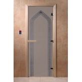 Дверь для саун DoorWood Арка синий жемчуг матовое 190*70