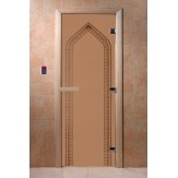 Дверь для саун DoorWood Арка бронза матовое 190*70