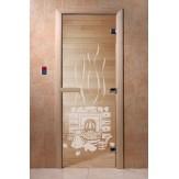 Дверь для саун DoorWood Банька прозрачное 190*70