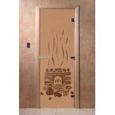 Дверь для саун DoorWood Банька бронза матовое 190*70