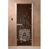 Дверь для саун DoorWood Банька черный жемчуг 190*70