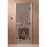Дверь для саун DoorWood Банька черный жемчуг матовое 190*70