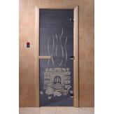 Дверь для саун DoorWood Банька синий жемчуг 190*70