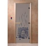 Дверь для саун DoorWood Банька синий жемчуг матовое 190*70