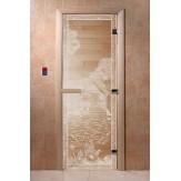Дверь для саун DoorWood Банька в лесу прозрачное 190*70