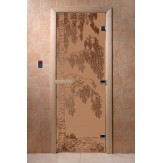 Дверь для саун DoorWood Березка бронза матовое 190*70