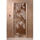 Дверь для саун DoorWood Березка бронза 190*70