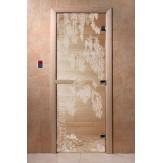 Дверь для саун DoorWood Березка прозрачное 190*70