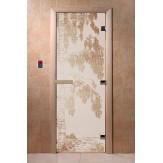 Дверь для саун DoorWood Березка сатин 190*70