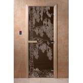 Дверь для саун DoorWood Березка черный жемчуг 190*70