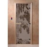 Дверь для саун DoorWood Березка черный жемчуг матовое 190*70