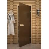 Дверь для сауны АКМА Aspen M Бронза матовое 790*2090 осина
