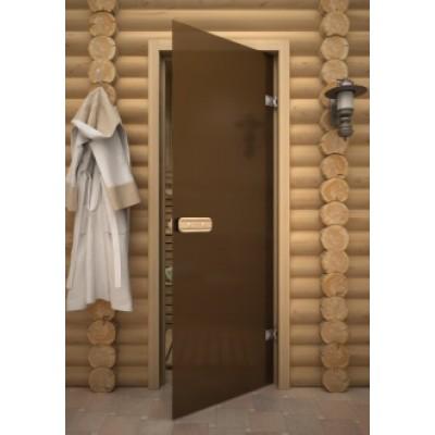 Дверь для сауны АКМА Linden M Бронза матовая 690х1890 липа