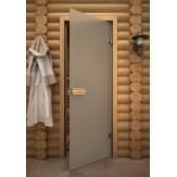 Дверь для сауны АКМА Aspen M серое матовое  690*2090 осина