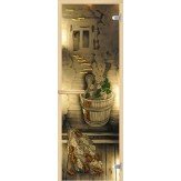 Дверь для сауны АКМА фьюзинг Парилка 700*1900