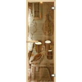 Дверь для сауны АКМА фьюзинг Предбанник 700*1900