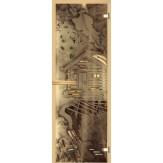 Дверь для сауны АКМА фьюзинг Пейзаж 700*1900