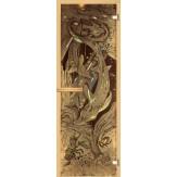 Дверь для сауны АКМА фьюзинг Осетры 700*1900