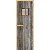 Дверь из стекла для саун и бань AKMA 700*1900 Дверь с окном полноцвет