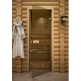 Дверь для сауны АКМА Aspen M Бронза 690*2090 осина