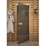 Дверь для сауны АКМА Aspen M Серое 70х190 осина