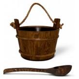 Ковш Tylo деревянный, просмоленный