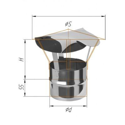 Зонт-Д Ferrum d=115 мм из стали AISI 430 0,5мм