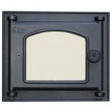 Дверца топочная со стеклом для каминов и печей