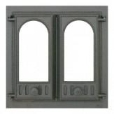 Каминное и печное литье 401 SVT каминная дверца со стеклом(двухстворчатая)