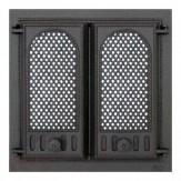 Каминное и печное литье 402 SVT каминная дверца со стеклом(двухстворчатая)