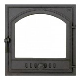 Каминное и печное литье 405 SVT каминная дверца со стеклом(одностворчатая)
