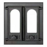 Каминная дверца со стеклом двустворчатая 408 SVT (Финляндия)