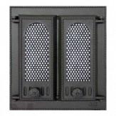 Каминное и печное литье 409 SVT каминная дверца со стеклом(двухстворчатая)