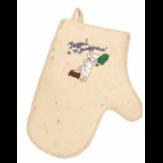 Рукавичка для бани с вышивкой (арт.303100)