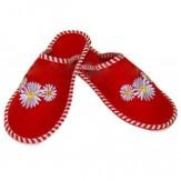 Тапочки женские для бани с вышивкой (арт.303901)