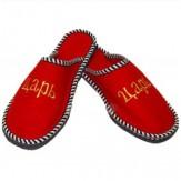 Тапочки мужские для бани с вышивкой (арт.303801)