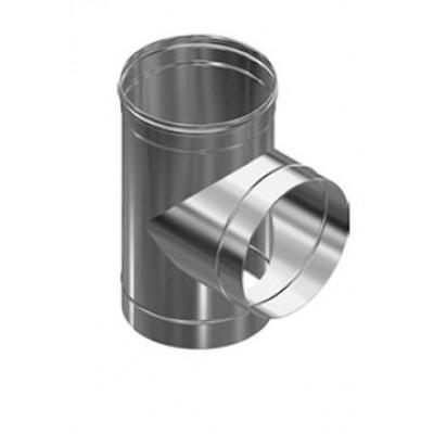 Дымоход Везувий Люкс тройник 90 гр из нержавеющей стали 1 мм д-115мм