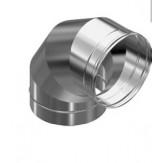 Дымоход Везувий колено 90 гр из нержавеющей стали 0,5 мм д-150мм