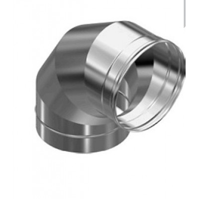 Дымоход Везувий колено 90 гр из нержавеющей стали 0,5 мм д-100мм