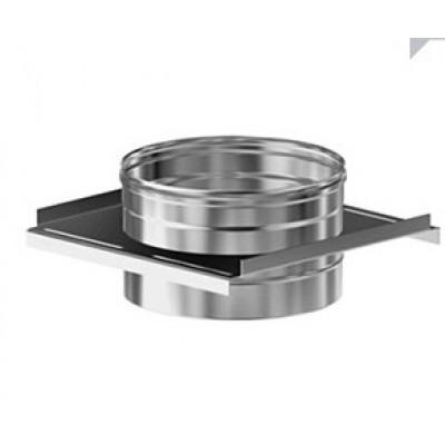 Дымоход Везувий задвижка (шибер) из нержавеющей стали 0,5 мм  д-115мм