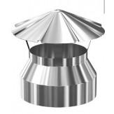 Дымоход Везувий зонт из нержавеющей стали 0,5 мм д-110мм
