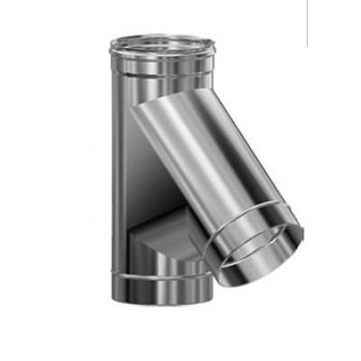 Дымоход Везувий Люкс тройник 45 гр из нержавеющей стали 1 мм д-115мм