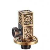 """Вентиль Bronze de lux 1/2""""для подвода воды прямоугольный арт 21983"""