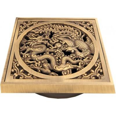 """Декоративная решётка для трапа Bronze de lux """"Дракон"""" (100х100мм.) арт.21986"""