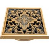 """Декоративная решётка для трапа Bronze de lux """"Цветок"""" (100х100мм.) арт.21975"""