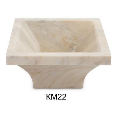 Курна мраморная КМ22 со сливом